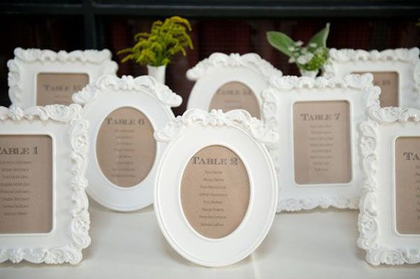 seating plan with Ikea frames | 20 Ikea wedding ideas http://weddingwonderland.it/2016/03/decorazioni-ikea-matrimonio.html