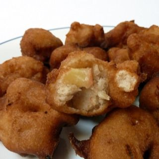 Easy Apple Fritters Recipe  Glaze: •2 cups powdered sugar •1 1/2 tablespoons milk