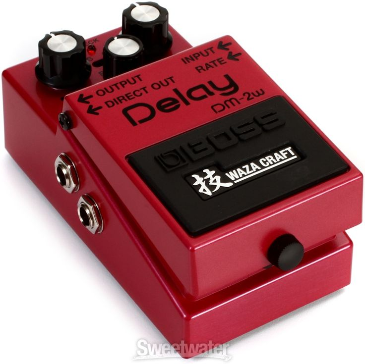 Reissue All-analog Delay Pedal with Bucket Brigade Circuitry and Two Operation Modes, Wet and Dry Outputs, and Expression Pedal Delay Time Control