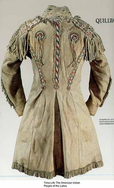 A buckskin frockcoat done in the Metis style- mid-19th century Canada