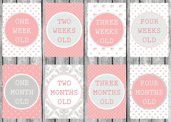 Instant Download 30 Digital Printable Baby Milestone by Chesilou