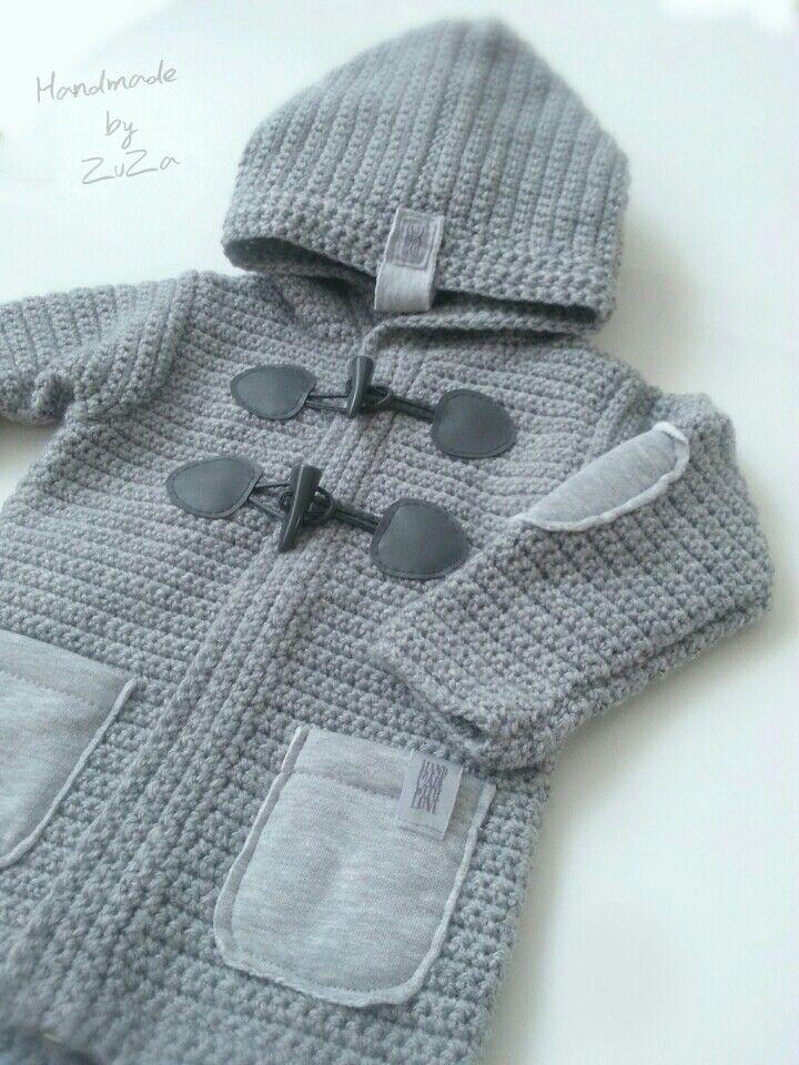 Crochet baby boy sweaters