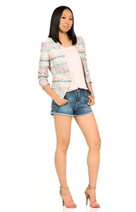 Pin to Win $500! Crisp cutoff jean shorts can be your go-to pair this summer. Enter here: https://www.facebook.com/justfab/app_137377669785610?ref=ts