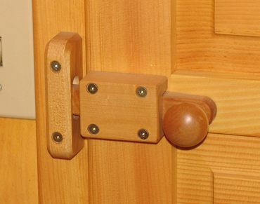 Wooden door knobs  latches
