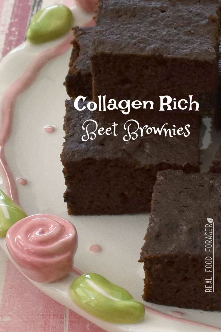 Collagen Rich Beetroot Brownies (Paleo, GAPS, Nut Free) - deliciously moist and super healthy with simple ingredients!