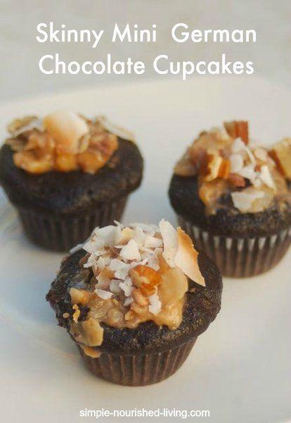 double german chocolate mini cupcakes