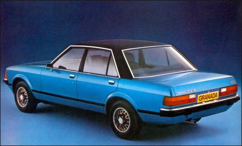 1979 Ford Granada 2.3 GL. Just look at that vinyl roof!