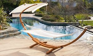 Groupon - Weston Outdoor Hammock with Canopy Top in [missing {{location}} value]. Groupon deal price: $259.99