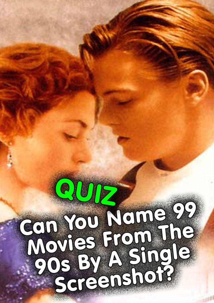 QUIZ: Can You Name 99 Movies From The 90s By A Single Screenshot?