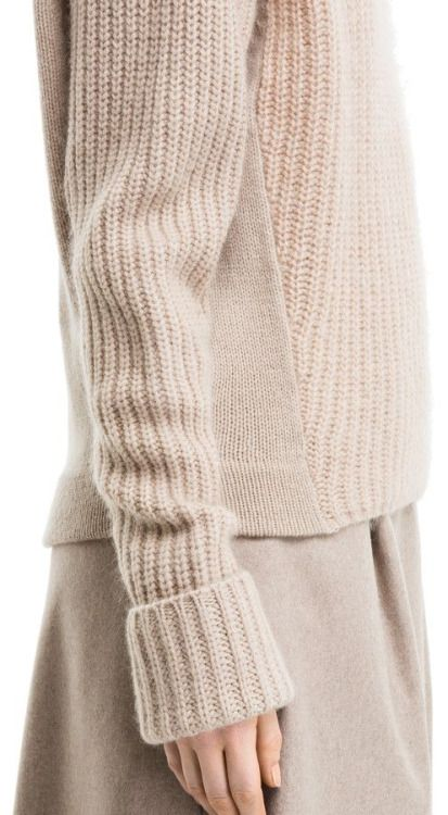 Beige knit fluffy soft loose and comfortable