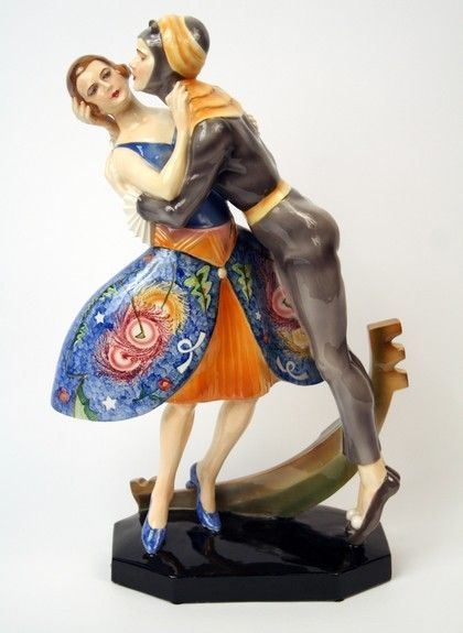 """Venetian"" a Goldscheider Art Deco Ceramic Sculpture, Austria circa 1920."
