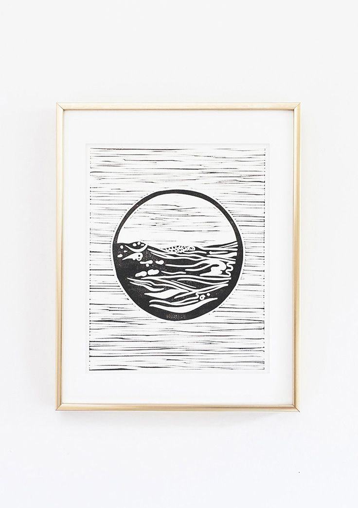 Set Forth Studio – Sea Linocut Print, $45 // This art print of ocean waves (part of our nature series) will look gorgeous on your wall, and makes a great gift. Buy it now in the shop!