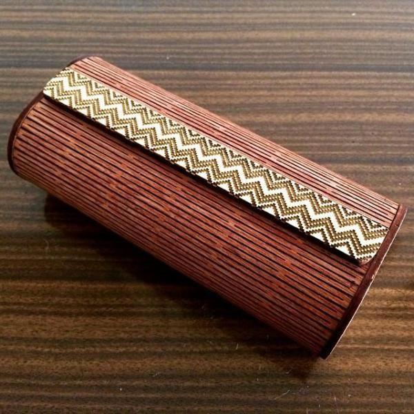 Estuche porta gafas de madera doblada - artesanum com