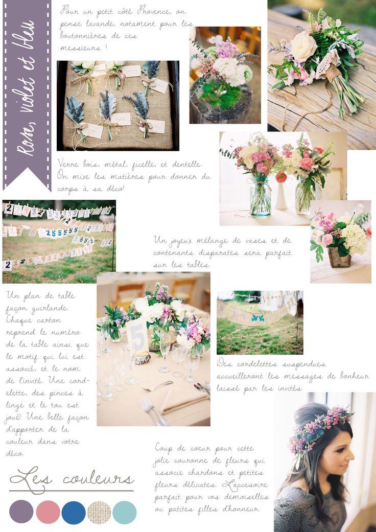 Carnet d'inspiration {rose, violet et bleu} par #lamarieeauxpiedsnus #wedding #inspiration    Crédits photo : Desi Baytan