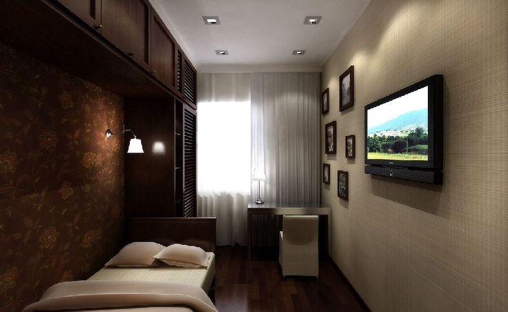 Пол, потолок и стены маленькой спальни