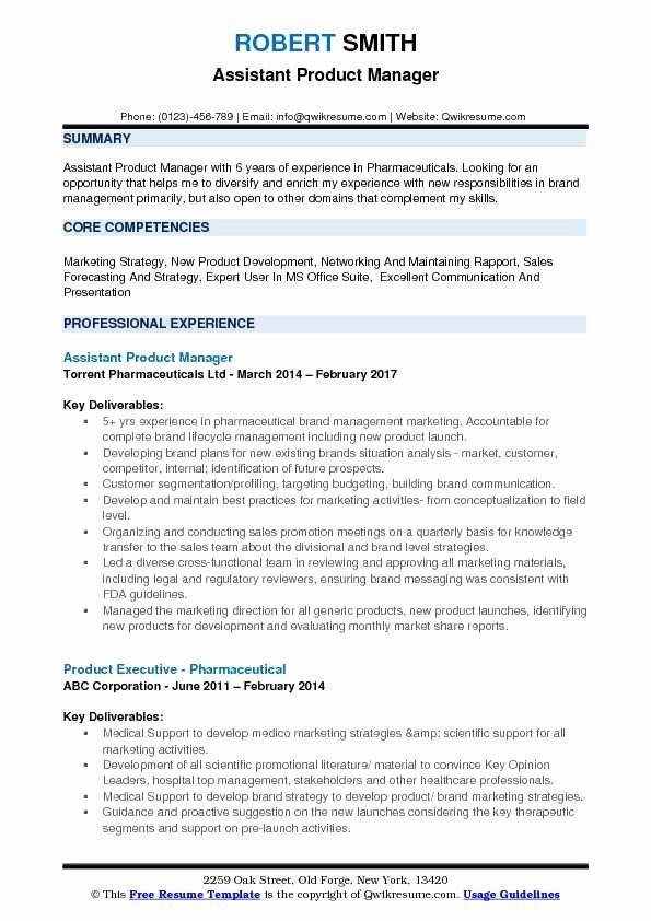 Kitchen Manager Job Description Resume New Assistant Product Manager Resume Samples Resume Examples Resume Job Resume Samples