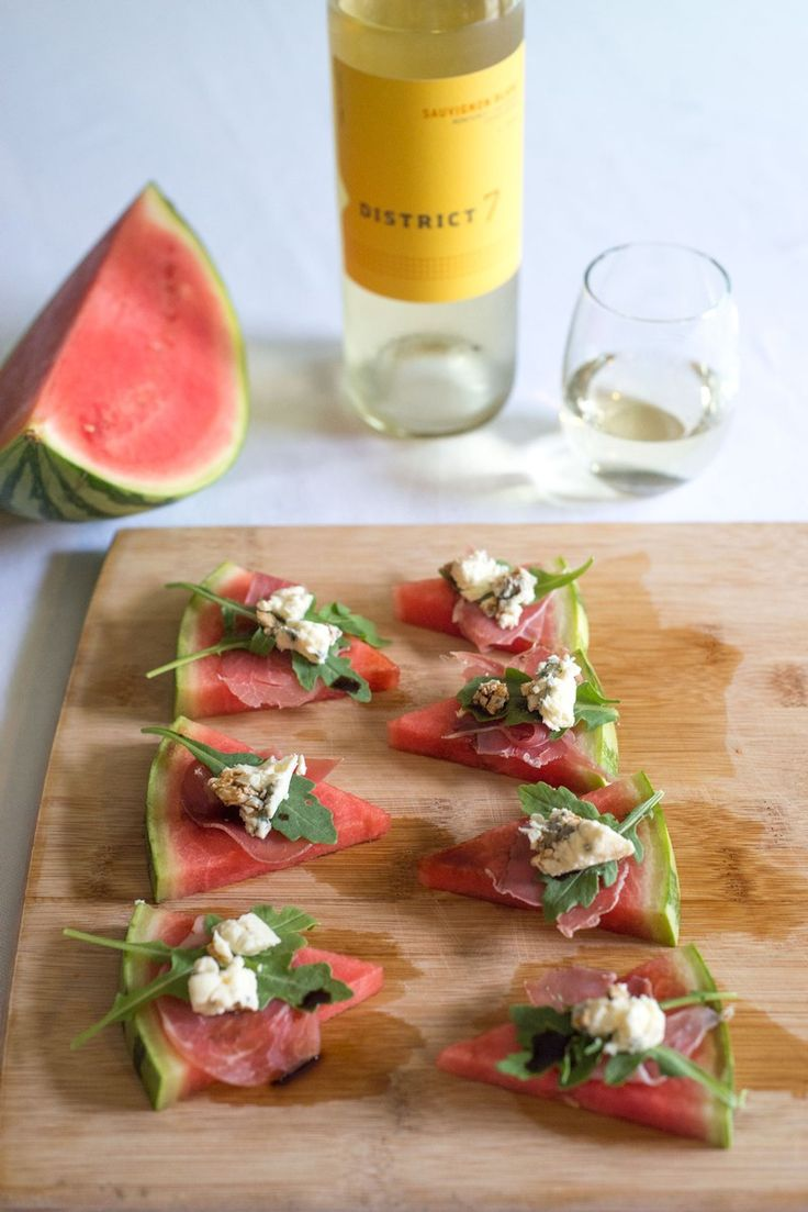 Food & Wine Pairing 2014 Sauvignon Blanc with Watermelon Prosciutto Wedges