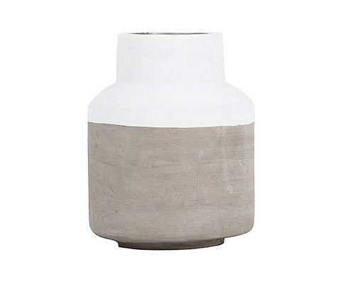 Concrete Dipped Vase White Short – THAT LITTLE SHOP