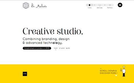 La Moulade #webdesign #inspiration #UI #Clean #Minimal #Infinite Scroll #jQuery #HTML5 #Unusual Navigation #White #Yellow