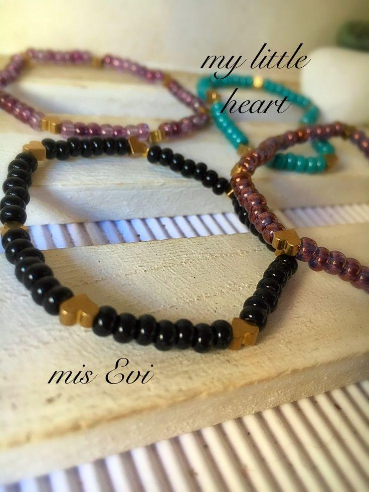 My little heart!!!! Handmade bracelets