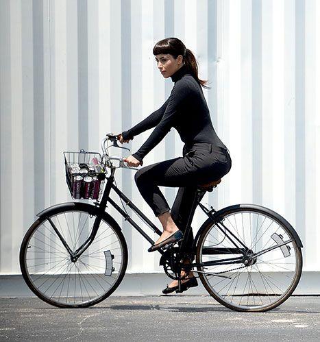 Kim Kardashian Sports Blunt Bangs, Rides Bike in Parisian-Themed Shoot - So Audrey Hepburn!  #style FashionIlluminati.com