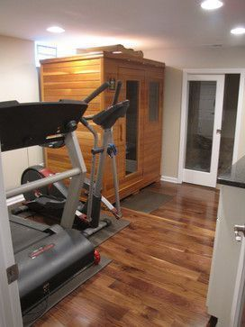 basement home gym and sauna #HomeGyms