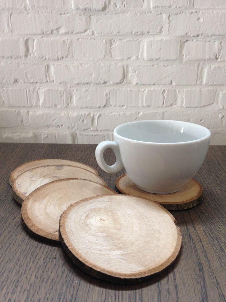 boomstam plakjes onderzetters vervaardigd uit berkenhout en beukenhout