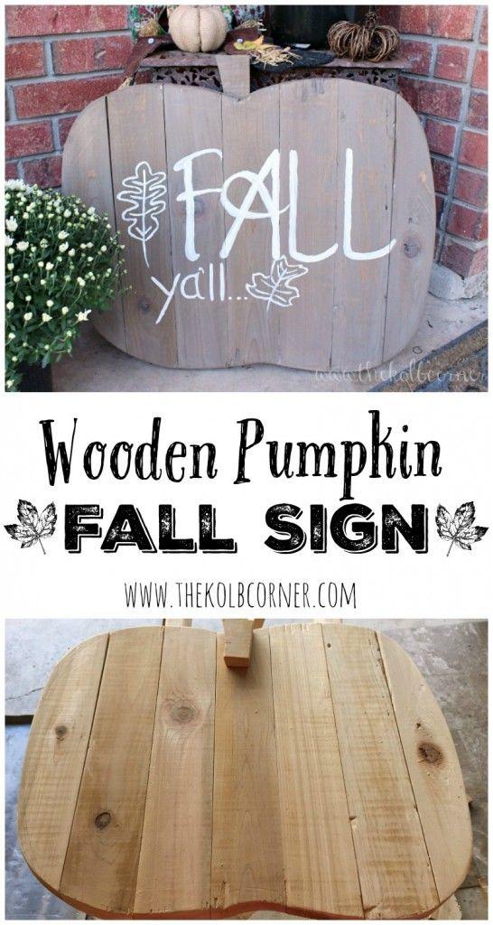 Wooden Pumpkin Fall Sign made from scrap lumber