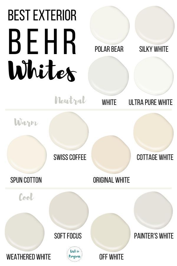 Best Behr White Paint Colors For Exteriors White Paint Colors Behr White Paint Colors Off White Paint Colors