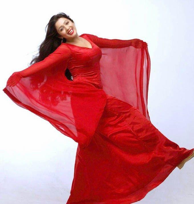 Charmi Kaur in Red Dress Beautiful Photo Shoot
