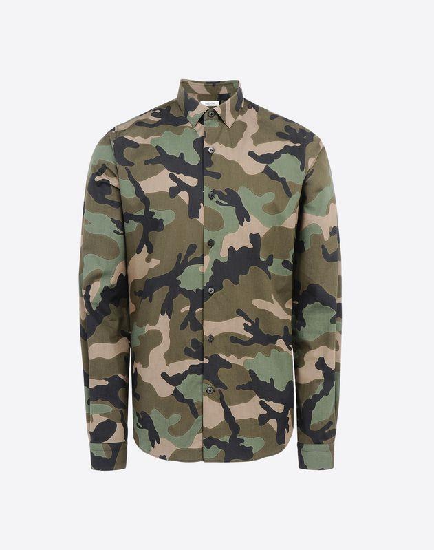 Chemise Camouflage Militaire, Chemises Homme Valentino Uomo | Boutique en ligne Valentino
