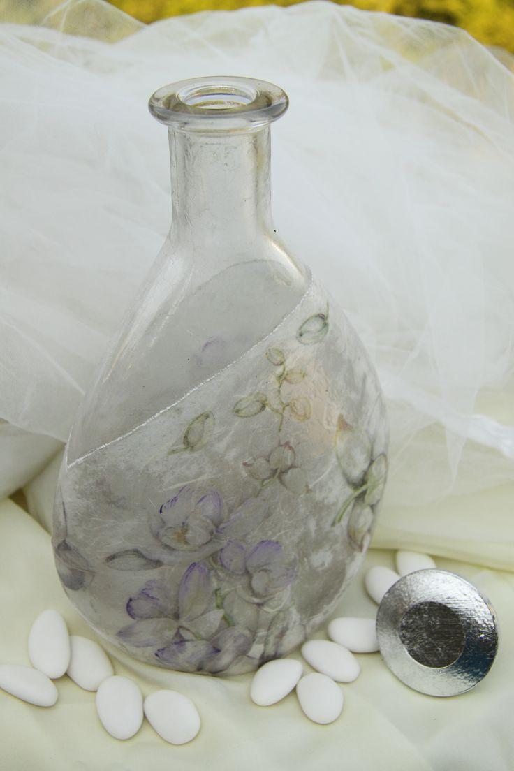elegant decoration with decoupage