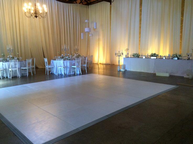 White painted dance floor