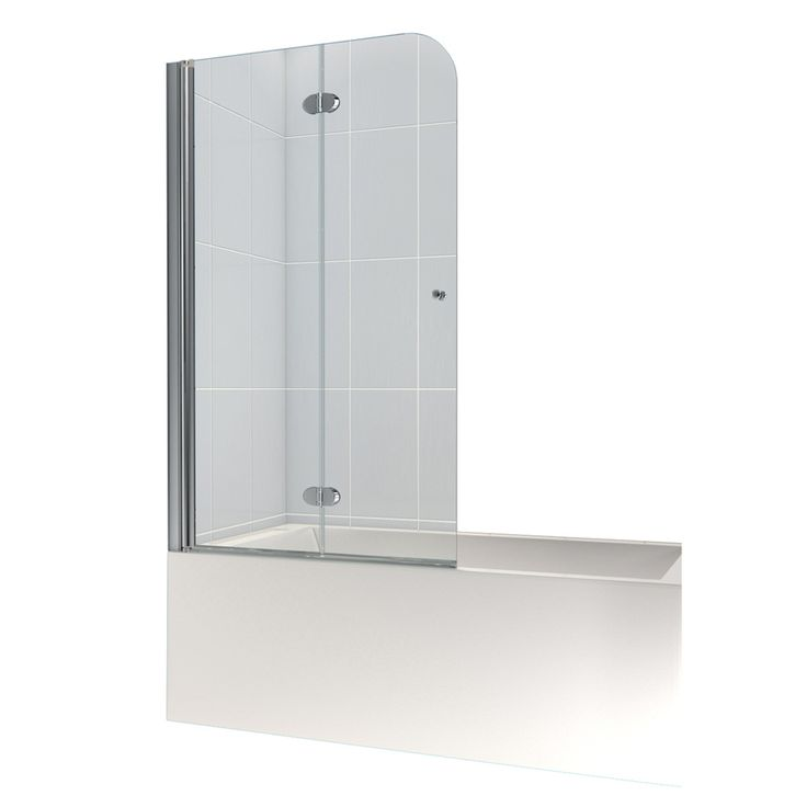 DreamLine AquaFold 36-in W x 58-in H Frameless Bathtub Door