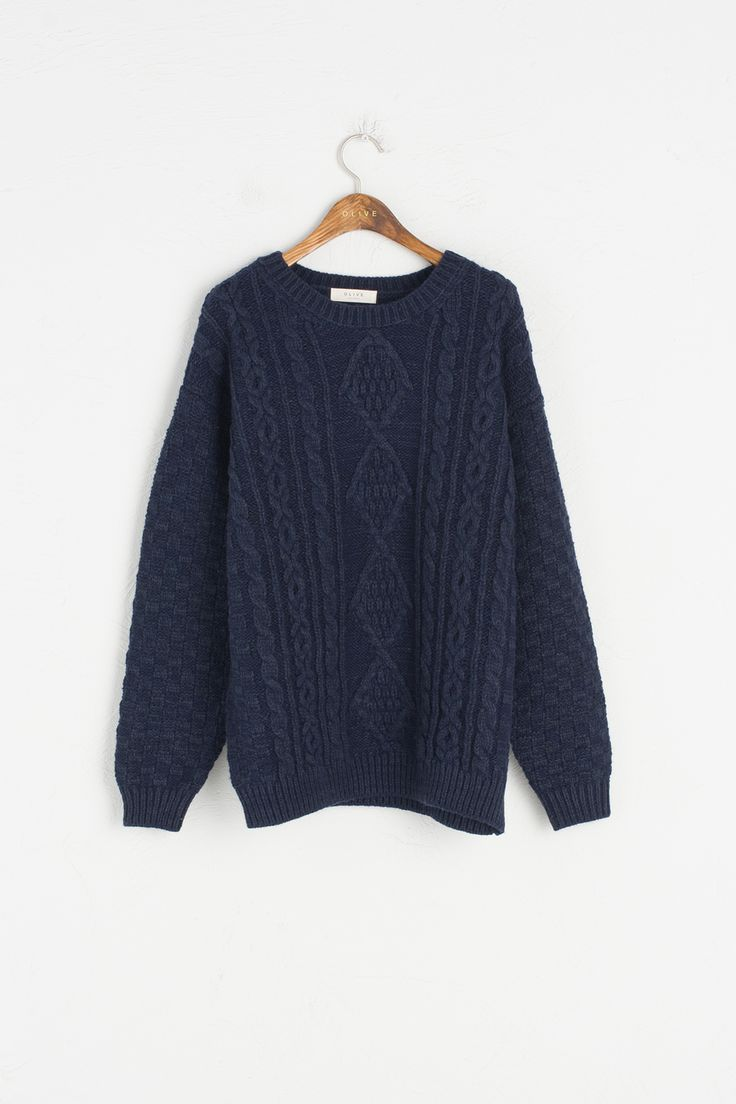 Olive - Cable Knit Jumper, Navy, £79.00 (http://www.oliveclothing.com/p-oliveunique-20161020-097-navy-cable-knit-jumper-navy)