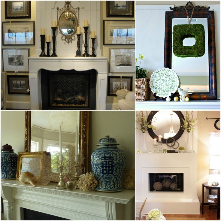 How To Decorate A Fireplace Mantel: Furniture: Enchanting Fireplace Mantels Decorating Ideas