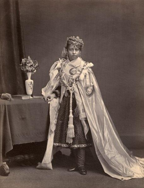 SMB, Ethnologisches Museum    Shah Jahan, Prinzessin von Bhopal, Aufnahme von 1877
