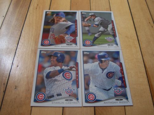 Darwin Barney Starlin Castro Anthony Rizzo 2014 Opening Day Chicago Cubs Lot 4 | eBay