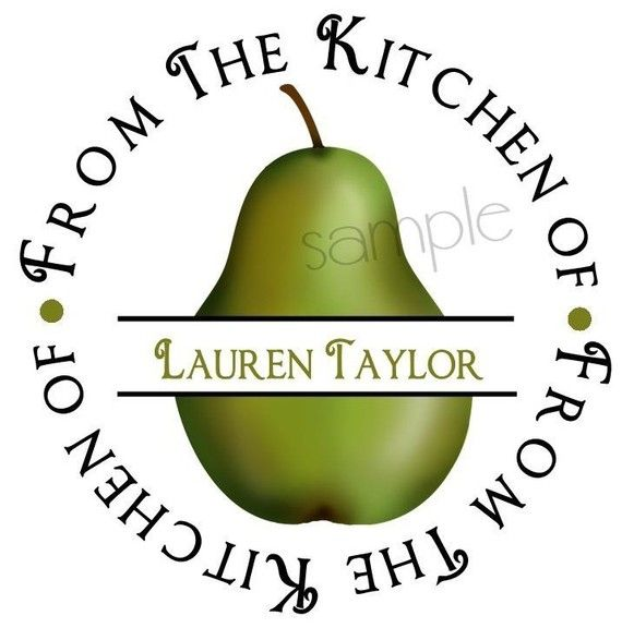 Pear kitchen Stickers Pears Pear Fruit by LittlebeaneBoutique, $5.95