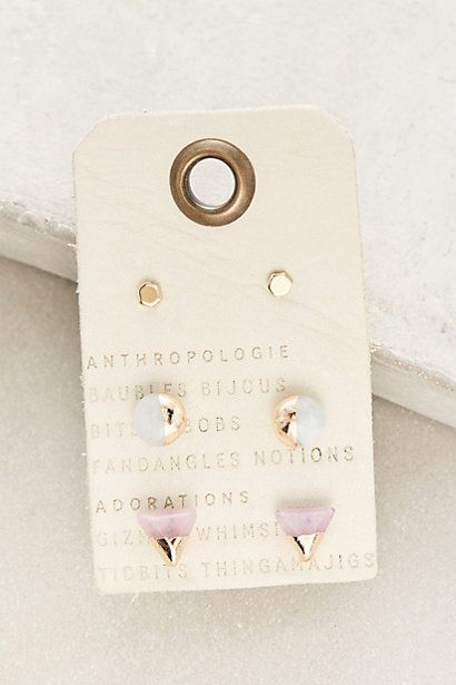 Futurist Earring Set with Green Earrings Not Pink #anthropologie