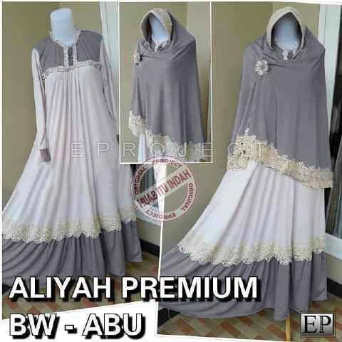 Baju Muslim Aliyah Bergo Bhn Spandex Jersey Kaoskeren