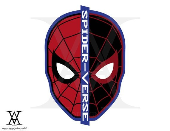 Spiderman Spider Verse Miles Moreles Logo Clipart Vector Instant Download Svg Png Eps Dxf Ai Jpg Spiderman Miles Spiderman Spiderman Face