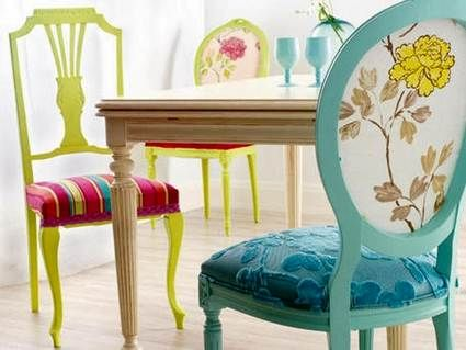 Sillas desiguales/ vintage chair for country homes