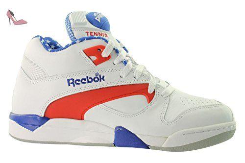 Reebok Baskets montantes pour homme–'Captain America'–Blanc Rouge Bleu - blanc - White, Reebok Royal, Rbk Red, Carbon, - Chaussures reebok (*Partner-Link)