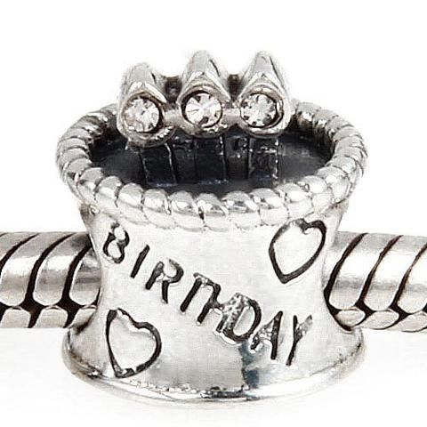 Fits Pandora Birthday Charm 925 Sterling Silver with Pave Clear crystals. Click Picture to Purchase. https://liftingtheworld.com/collections/charms?page=6