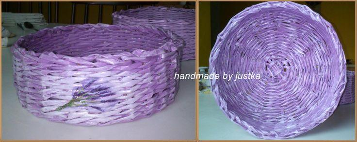 koszyk papierowa wiklina lawenda