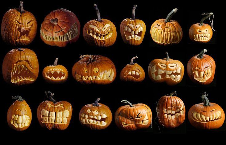 Pumpkin Face Carving Ideas Craft Ideas Pinterest