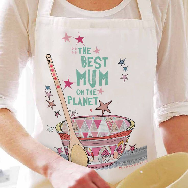 'Best Mum On The Planet' Personalised Apron