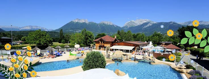 camping Europa **** (Rhone Alpes - Haute Savoie 74) avec complexe aquatique