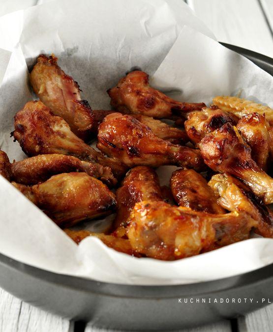 Skrzydełka pieczone w piekarniku, Skrzydełka pieczone w piekarniku przepis, skrzydełka przepis, skrzydełka w miodzie, skrzydełka w miodzie przepis